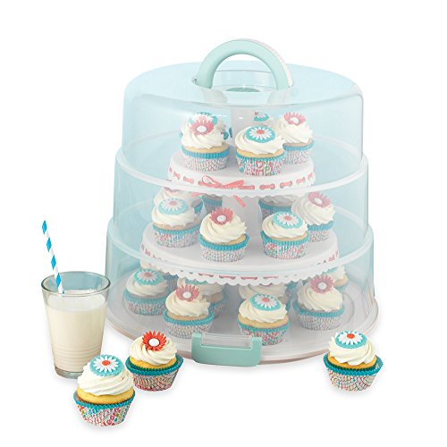 Sweet Creations 3 Tier, Collapsible Cupcake and Cakepop Display Carrier...
