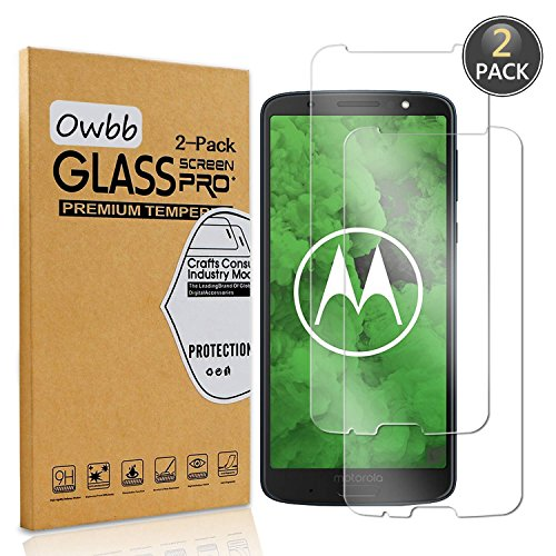 Owbb [2 Stück] Transparent Gehärtetes Glas Display schutzfolie Für Motorola Moto G6 Plus Smartphone Schutz Explosionsgeschützter Film