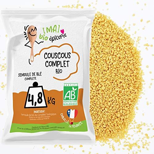 [Ma] bio-épicerie | Couscous complet BIO | 4,8 Kg | Semoule complète BIO | Sachet vrac | Certifié biologique | Riche en fibres, source de protéines