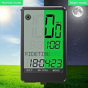 Gafild Cuentakilómetros para Bicicleta Inalámbrica, LCD Computadora de Bicicleta Impermeable Velocímetro Bici con 32 Funciones y 9 Idiomas