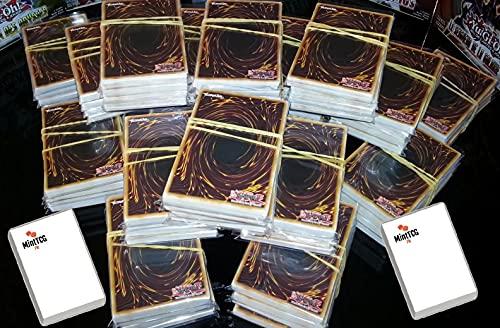 YU-GI-Oh! Lot de 50 Cartes Françaises sans Double + 1 Carte Brillante + 1 Compteur de Point de Vie MintTCG Cadeau !