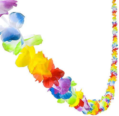 Rhode Island Novelty Bright Jumbo Flower Lei Garland