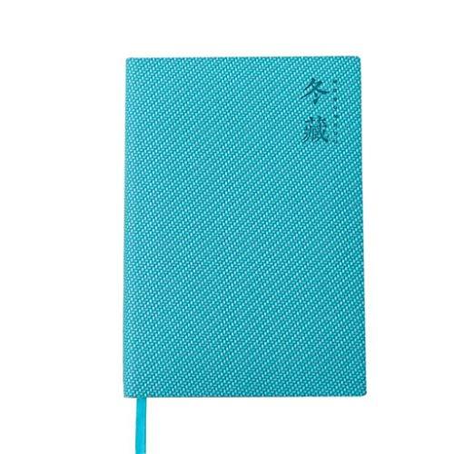 cuadernos de notas Diseño de trazado horizontal Notebook, Enc espuma cubierta Diario, 128 Hoja Premium Papel grueso, 4 Estilos disponibles, for la escuela de la oficina blocs de notas ( Color : Blue )