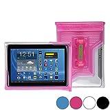 DiCAPac WP-T20 Universelle, wasserdichte Hülle für Toshiba Encore 2 10 / 2 Write 10, Tablet A204YB Tablets in Pink (Doppel-Klettverschluss, IPX8-Zertifizierung zum Schutz vor Wasser bis 5m Tiefe; integriertes Luftkissen treibt auf dem Wasser und schützt das Gerät; extraklare Polycarbonat-Fotolinse; integrierte Handschlaufe)