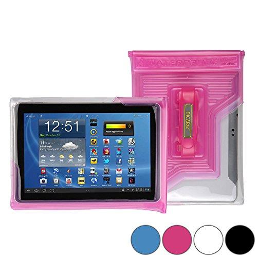 DiCAPac WP-T20 Universelle, wasserdichte Hülle für HP ElitePad 900 / 1000 G2, Pavilion x2 10 inch Tablets in Pink (Doppel-Klettverschluss, IPX8-Zertifizierung zum Schutz vor Wasser bis 5m Tiefe; integrierter Airbag treibt auf dem Wasser und schützt das Gerät; extraklare Polycarbonat-Fotolinse; integrierte Handschlaufe)