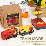 perfecti Ni/ños Juguete De Tren El/éctrico Classic Steam-Era Tren De Carga Locomotora De Juguete para Riel De Madera Rojo//Amarillo Regalo para Ni/ños