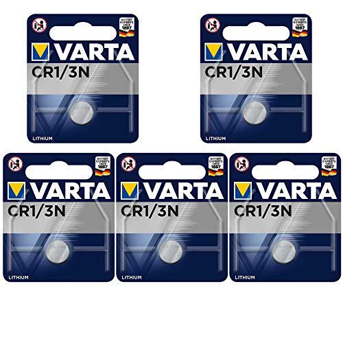 Lithium Batterie ersetzt CR 1/3 N, CR11108 - 5 Stück