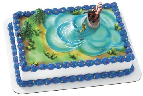 DecoPac Fisherman in Boat Set Cake Topper/Cake Decorations