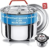 Silva Stackable Pressure Cooker Accessories Compatible with Instant pot 6 qt + 2 Lids + Safety...