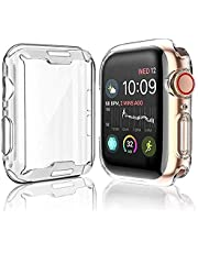 Case for Apple Watch Series 5 / Series 4 Screen Protector 44mm, 2019 iWatch Overall Protective Case TPU HD Clear Ultra-Thin Cover for Series 5/4 (44mm)