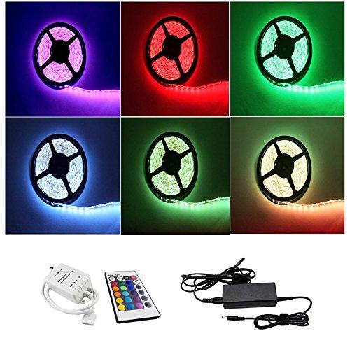 IMMEGE 7m RGB LED Stripe, Band, Streifen, LED Leiste, Lichtleiste, Bänder, 60LEDs/m wasserdicht mit Netzteil und Fernbedienung Full Kit