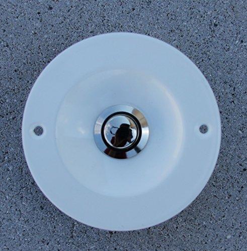 SCHARF metall design Klingel Klingelplatte weiß/Weiss mit Klingeltaster verchromt