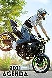 Agenda 2021 Moto: Pianificatore settimanale e mensile a5 - Da gennaio a dicembre 21 - Due pagine per settimana - regalo per motociclista uomo donna