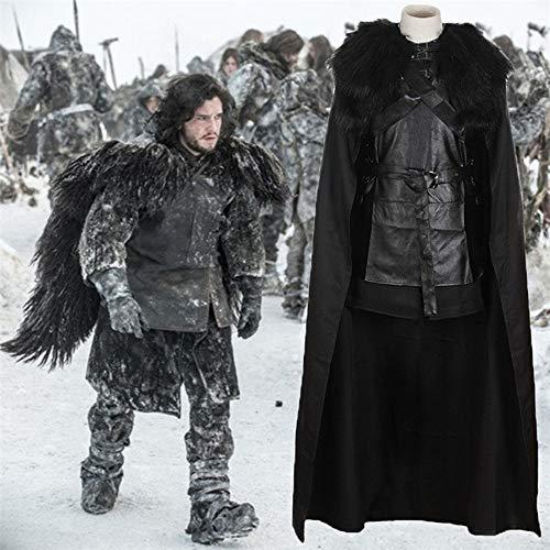 GACOSPLAY Disfraz de Jon Snow para Juegos de Derechos, Disfraz de Halloween, Disfraz de espectáculo,M