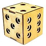 Logica Juegos Art. Cofre Dado Enigmático - Rompecabezas de Madera - Caja Secreta - Dificultad 5/6 Increíble - Colección Leonardo da Vinci