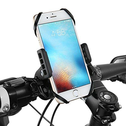 Soporte Móvil Moto, Soporte Móvil Bici ATV Scooter Siroflo Soporte para teléfono giratoria 360 Degree Door Bicicleta portátil Compatible con iPhone X 8 plus 8 7 6 Plus Samsung HTC, Huawei gps etc.
