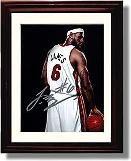 Framed LeBron James Miami Heat Autograph Replica Print