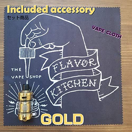 【NANO】GeekvapeZeusNanoゼウスナノφ22mmクリアロ+FlavorKitchenオリジナルVAPEクロス(Gold)