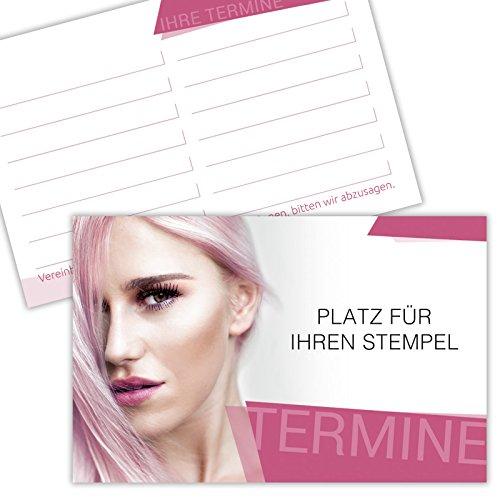 1000 Terminkarten Kundenkarten Friseure Haardesign Hairstylist 350g Karton gut beschreibbar mit Stempelfeld
