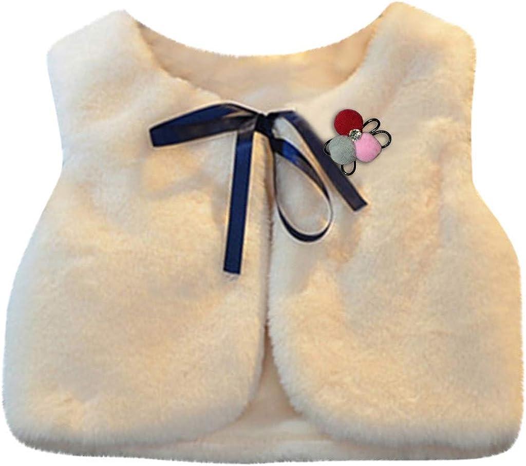 Forver Girl Boy Top Blouses,Children Vest Shawl Sweater Vest Brooch Becoration Keep Warm Children's Wear