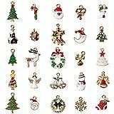 HomeMall Stück Weihnachten Anhänger, 25 Stück Pop Weihnachten Anhänger Dekorative DIY Ornamente...
