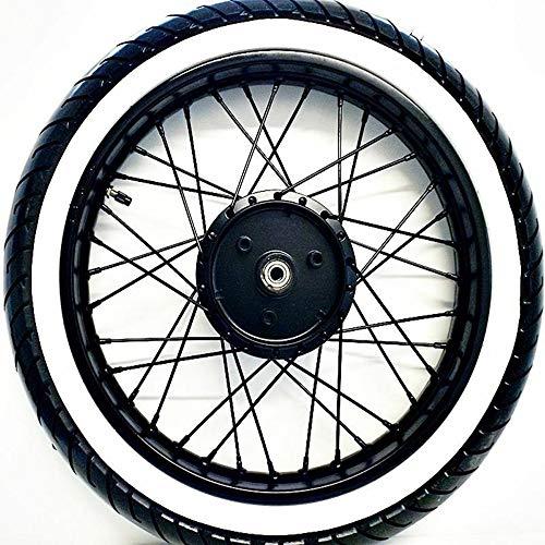 Komplettrad 2,75 x 16 Zoll schwarz gepulvert inklusive Speichenrad, Reifen, Schlauch und Felgenband