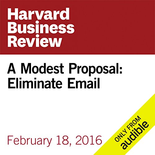 A Modest Proposal: Eliminate Email audiobook cover art