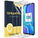 UniqueMe [3 Pack] Compatible con Xiaomi Redmi 9 Protector de Pantalla, Vidrio Templado [9H Dureza] HD Film Cristal Templado