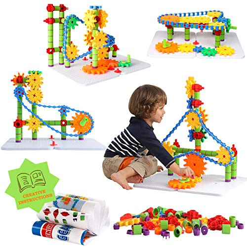 ZoZoplay STEM Learning Toy 170 PCS Engineering Creative Construction Building Blocks Kids Educational Toy Set for Boys and Girls Ages 3 4 5 6 7 8 9 Yr Old