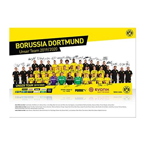 Borussia Dortmund BVB Poster/Mannschaftsposter ** Saison 2019/2020 ** one Size