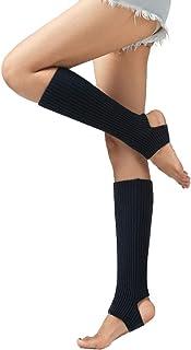Vobony, Calentadores Piernas Mujer Niñas Invierno Cálido Moda Calcetines Largos Punto Calientapiernas Medias de Ballet Yoga