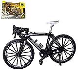 Kiwochy Modelo bicicleta Bicicleta decorativa miniatura 1: 8 (7.87 * 5.12 pulgadas) Colección Deco Die-Cast Toys Mini Bend Modelo de bicicleta Bicicleta de carretera Bicicleta de montaña