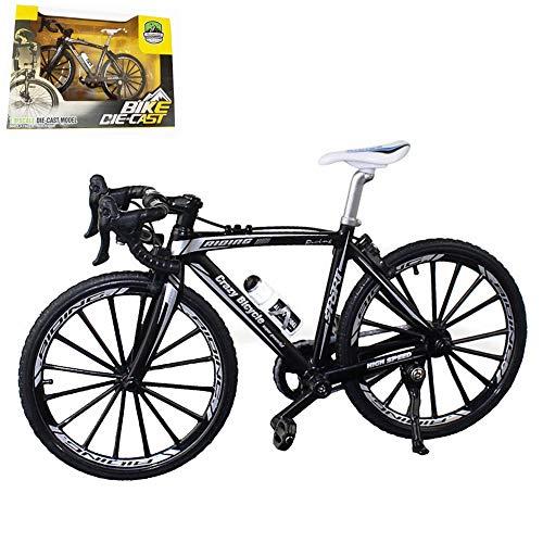 Kiwochy Fahrrad Modell Deko Fahrrad Miniatur 1:8 (7.87 * 5.12 Zoll) Collection Deko Druckguss Spielzeug Mini Bend Fahrrad Modell Rennrad Mountainbike