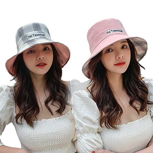 CROW Pescador de protección Solar a Doble Cara, Sombrero de Sol de otoño de señora, Sombrero, Sombreros de Viaje al Aire Libre, Damas Cubren la Cara de la Gorra de Sol, o C3