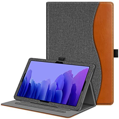 Fintie Hülle für Samsung Galaxy Tab A7 10,4 2020, Multi-Winkel Betrachtung Folio Schutzhülle mit Auto Schlaf/Wach, Dokumentschlitze für Galaxy Tab A7 10.4 Zoll SM-T500/T505/T507, Jeansoptik dunkelgrau