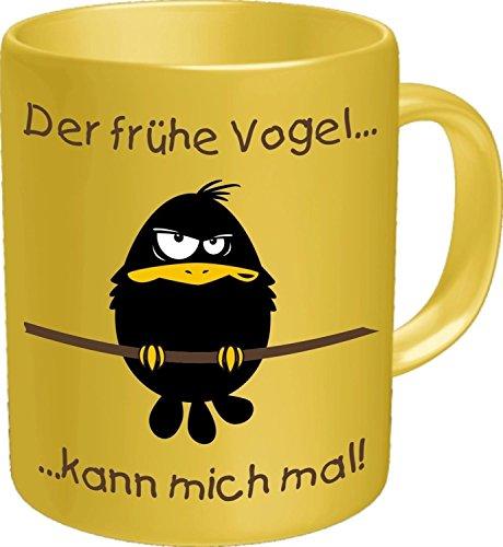 Rahmenlos Tasse: früher Vogel - Geschenkidee - Top Qualität - Kaffee, Tee, Glühwein zum Totlachen