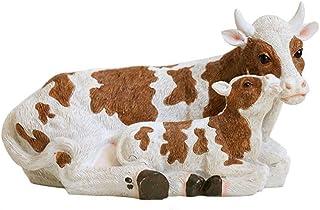 Figurines cr/èche 12 cm vache en r/ésine peinte pour cr/èche