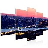 Runa Art - Bilder Istanbul Türkei 200 x 100 cm 5 Teilig