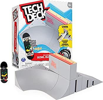 TECH DECK Bowl Builder X-Connect Park Creator Customizable and Buildable Ramp Set with Exclusive Fingerboard Kids Toy for Ages 6 and up