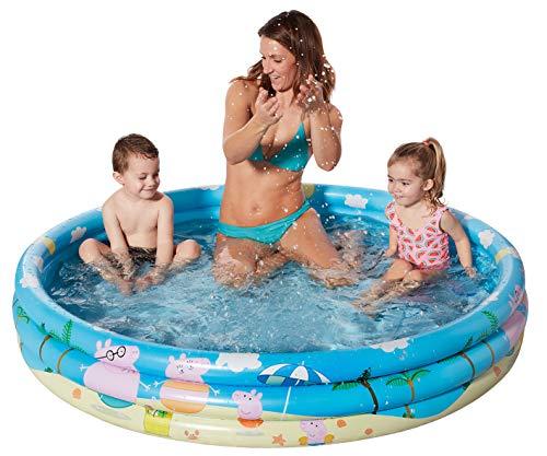Smart Planet Planschbecken Peppa Pig aufblasbar - 150 x 25 cm - 3-Ring-Pool Peppa Wutz - Kinderpool - Babypool - Schwimmbecken - Aufstellpool