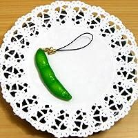 職人が創り出す 食品サンプル ストラップ 枝豆