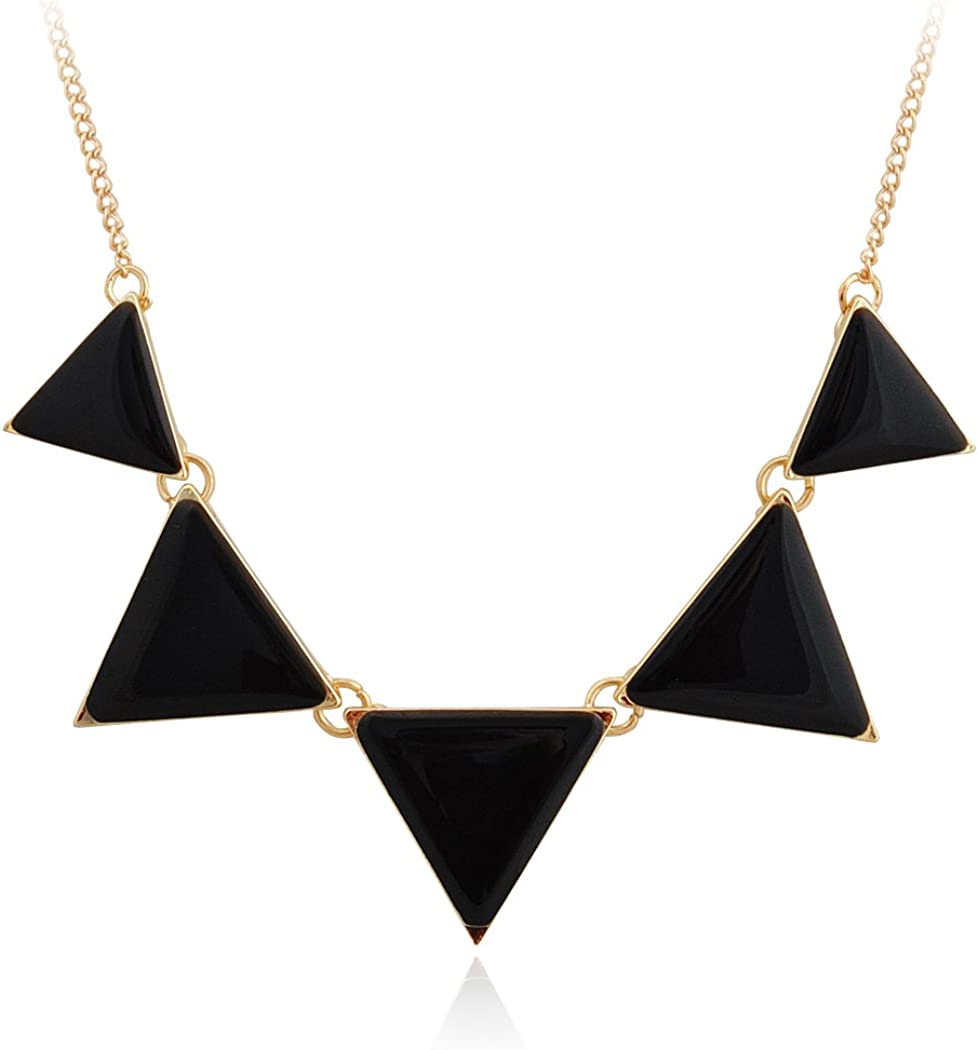 Jane Stone Fashion Jewelry Necklace Triangle Collar Statement Necklace for Women