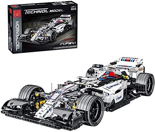 HOOPOO Juego de Edificios de Autos de Carreras, 1:14 Modelo de automóvil Deportivo Coleccionable Exclusivo, Bloque de construcción de 1100 Piezas Compatible con Lego (Color : White)