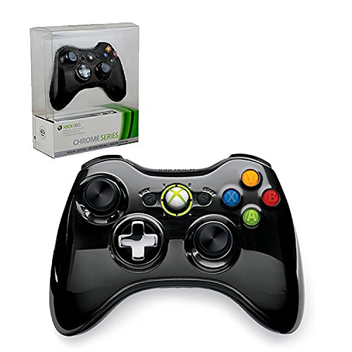 Xbox 360 Limited Edition Chrome Series Wireless Controller - Black