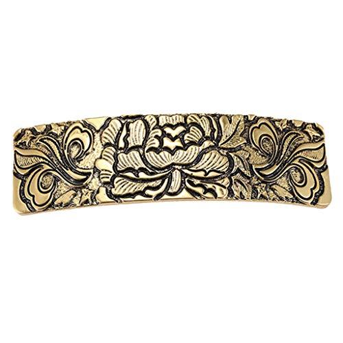 F Fityle Vintage Keltische Metallspange Haarspange Barrette Irland Haarschmuck für Mädchen und Damen - Gold 1