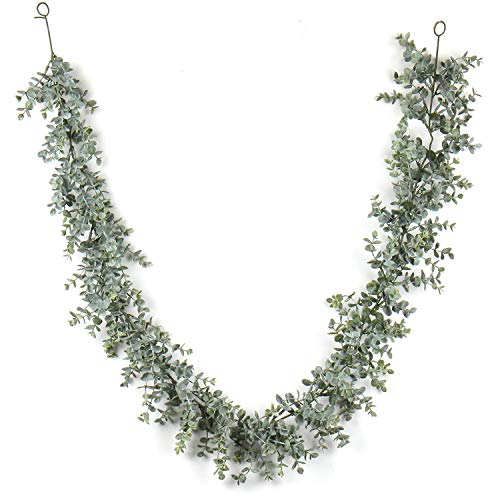 Briful Artificial Eucalyptus Garland, Vines Faux Fake Eucalyptus Boxwood Garland Hanging Vine Plant 5.74 Feet/Strand for Wedding Backdrop Arch Wall Table Festival Party Décor