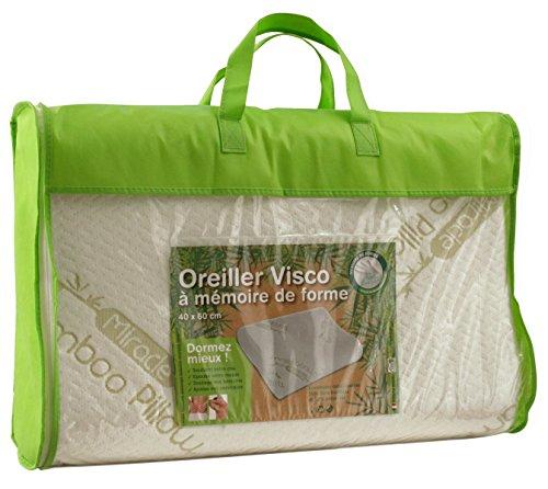 Oreiller Cervical 40x60 cm A mémoire de Forme - Anti-Allergique Fibre de Bambou