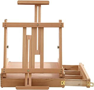 YXSDD Liftable Table Drawer Easel, Foldable Door for Easy Carrying and Storage, Suitable for Outing