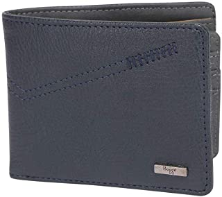 Baggit Mens Leather 1 Fold Wallet (Blue_Small)