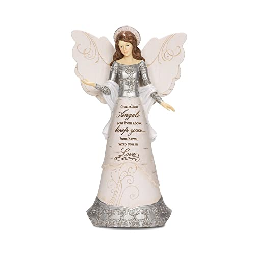 Guardian Angel Mini Pocket Bottle Figurine Prayer Worry Stone Token Angelstar